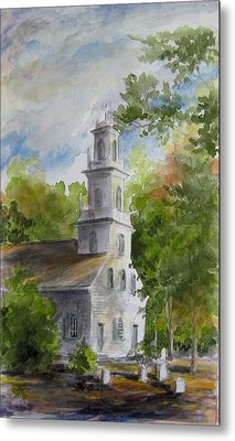 Old St. David's In The Fall Metal Print by Gloria Turner