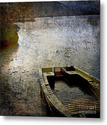 Old Sunken Boat. Metal Print by Bernard Jaubert