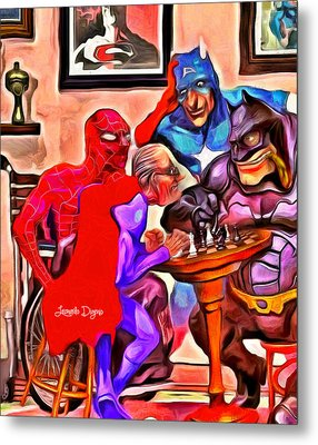 Old Super Heroes - Da Metal Print