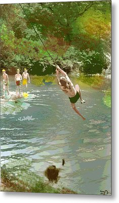 Old Swimming Hole Metal Print by Charles Shoup