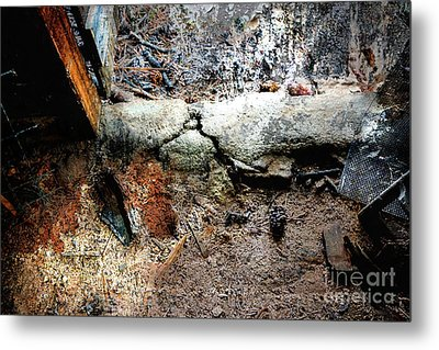 Old Threshold Paint Metal Print