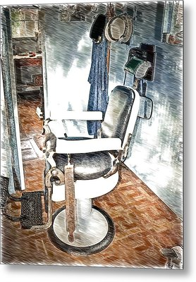 Old Time Barber Shop Sketch 2 Metal Print by Marty Koch