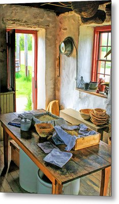 Old Time Kitchen At Old World Wisconsin Metal Print by Christopher Arndt
