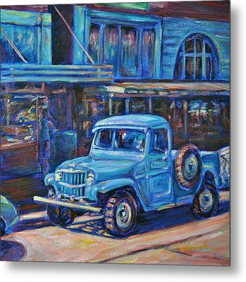 Metal Print featuring the painting Old Timer by Li Newton