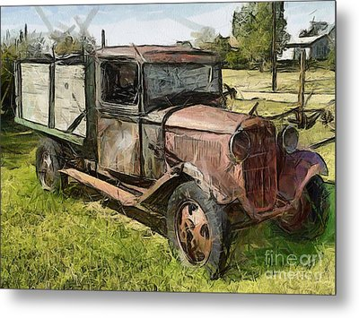 Old Timer Metal Print by Murphy Elliott
