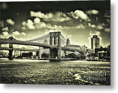Old Times In Brooklyn Metal Print by Alessandro Giorgi Art Photography
