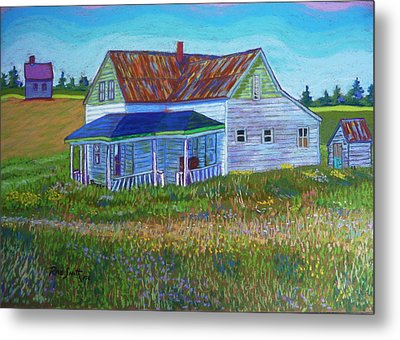 Old Tin Roof Metal Print by Rae  Smith