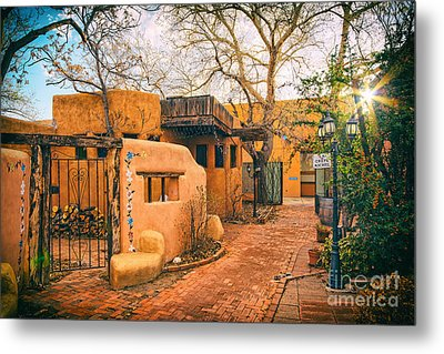 Old Town Albuquerque Secret Passageway  - Albuquerque New Mexico Metal Print