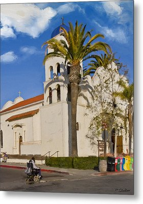Old Town Church Metal Print by Patricia Stalter