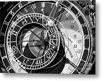 Old Town Clock Metal Print by John Rizzuto