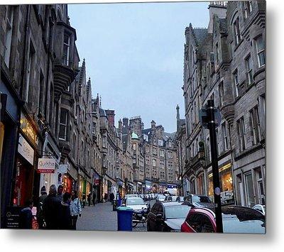 Old Town Edinburgh Metal Print