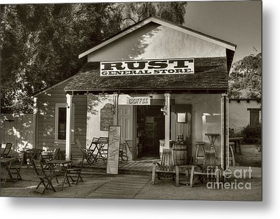 Old Town General Store Sepia Tone Metal Print