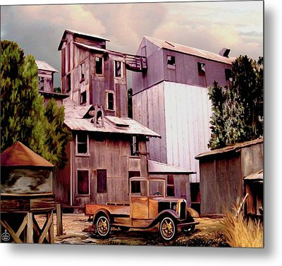 Old Town Granary Metal Print by Ron Chambers