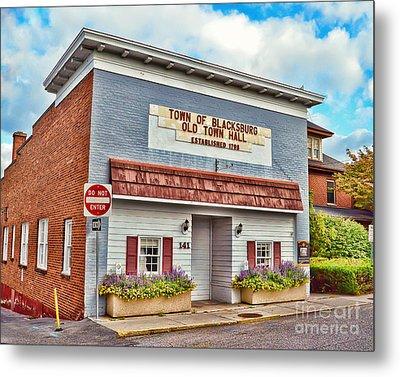 Old Town Hall Blacksburg Virginia Est 1798 Metal Print