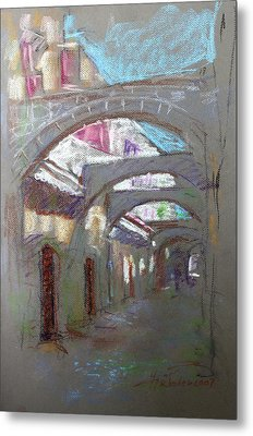 Old Town In Rhodes  Greece Metal Print by Ylli Haruni