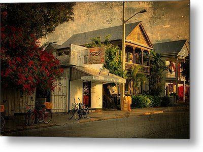 Old Town -  Key West Florida Metal Print by Thomas Schoeller