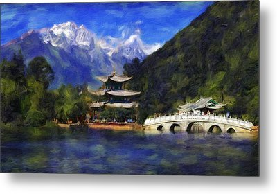 Old Town Of Lijiang Metal Print by Vincent Monozlay