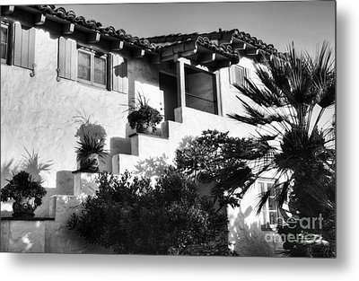 Old Town San Diego Shadows Bw Metal Print