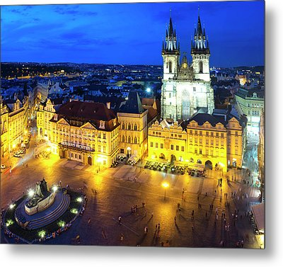 Metal Print featuring the photograph Old Town Square by Fabrizio Troiani