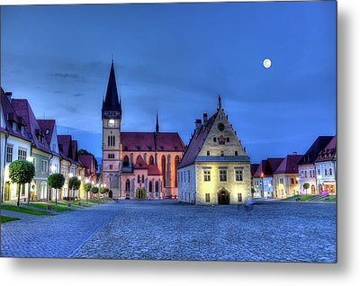 Old Town Square In Bardejov, Slovakia,hdr Metal Print by Elenarts - Elena Duvernay photo
