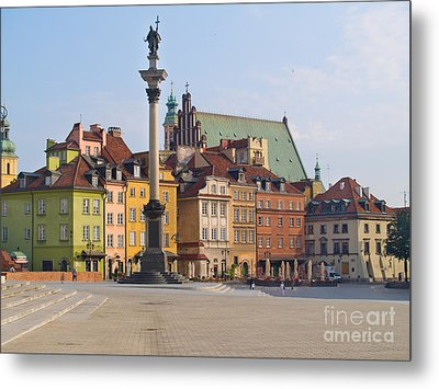 Old Town Square Zamkowy Plac In Warsaw Metal Print