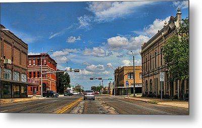 Old Town Taylor Intersection Metal Print by Linda Phelps