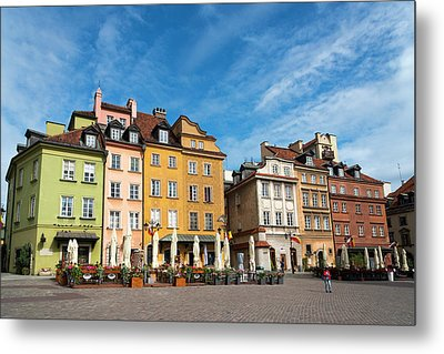 Metal Print featuring the photograph Old Town Warsaw by Chevy Fleet