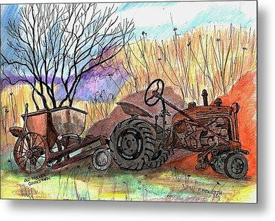 Old Tractor Danvers Ma Metal Print