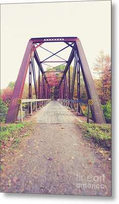 Metal Print featuring the photograph Old Train Bridge Newport New Hampshire by Edward Fielding