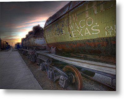 Metal Print featuring the tapestry - textile Old Train - Galveston, Tx 2 by Kathy Adams Clark