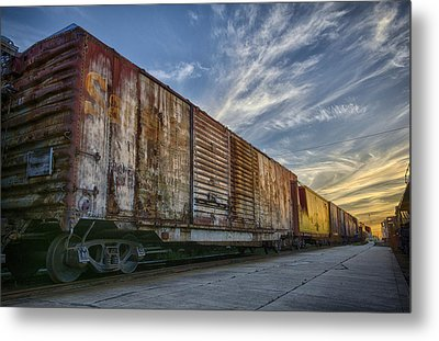 Metal Print featuring the tapestry - textile Old Train - Galveston, Tx by Kathy Adams Clark