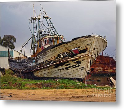 Old Trawler Metal Print by Jose Elias - Sofia Pereira