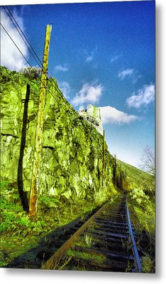 Metal Print featuring the photograph Old Trolly Tracks by Jeff Swan