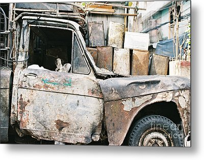 Metal Print featuring the photograph Old Truck by Dean Harte