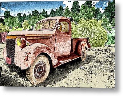 Old Truck Metal Print by James Steele