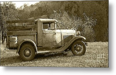 Old Truck On The Mountain Metal Print by Pete Hellmann