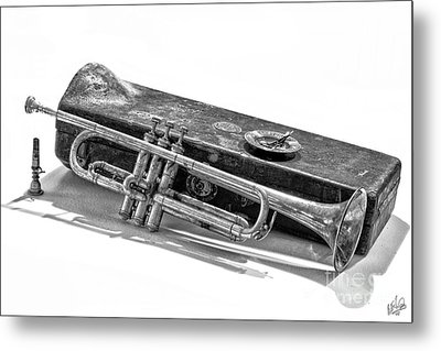 Metal Print featuring the photograph Old Trumpet by Walt Foegelle