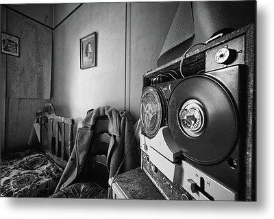 Old Tunes -abandoned Building Metal Print by Dirk Ercken