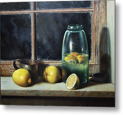 Metal Print featuring the painting Old Tyme Lemonade by William Albanese Sr