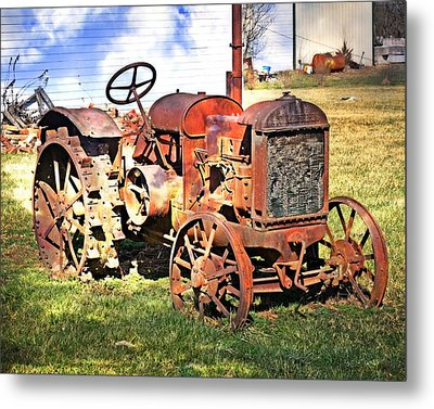 Old Tyme Tractor Metal Print by Marty Koch