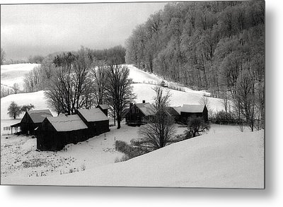 Old Vermont Farm Metal Print by John Scates