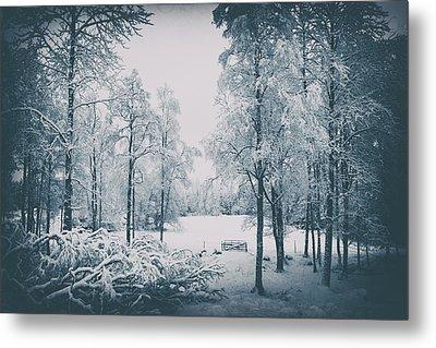 Old Vintage Winter Landscape Metal Print by Christian Lagereek