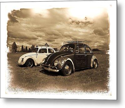 Old Vw Beetles Metal Print by Steve McKinzie