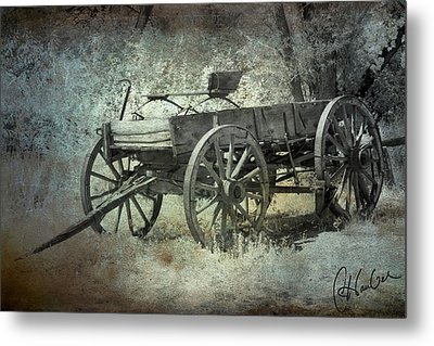 Old Wagon Metal Print by Christine Hauber