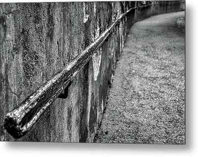 Metal Print featuring the photograph Old Wall And Handrail by Stuart Litoff