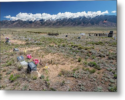 Old West Rocky Mountain Cemetery View Metal Print by James BO Insogna