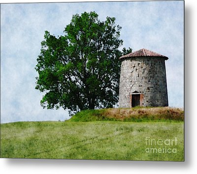 Metal Print featuring the photograph Old Windmill by Jean Bernard Roussilhe