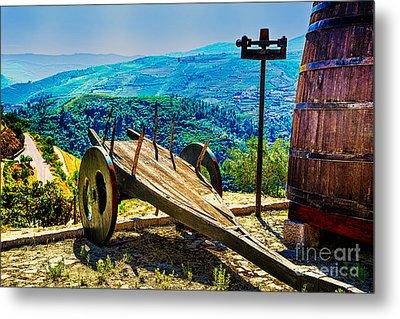 Old Wine Cart Metal Print by Rick Bragan