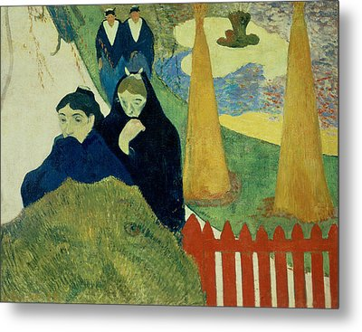 Old Women Of Arles Metal Print by Paul Gauguin