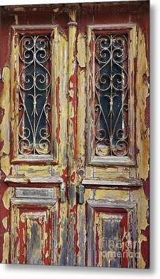 Old Wooden Doors Metal Print by Carlos Caetano